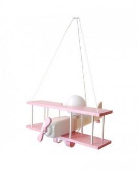Różowa lampa wisząca Samolot dla dziewczynki