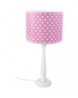 Lekka Lampa stojąca biała różowa na stolik