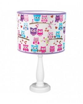 Dziecięca stojąca lampa biurkowa Kolowe Sowy