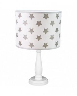 Stojąca lampa stołowa na biurkowa biała Gwiazdki