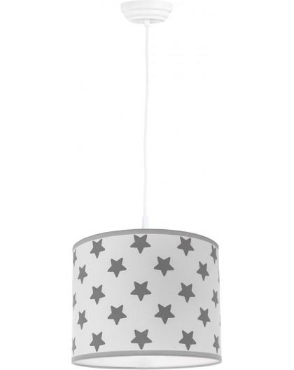 Biało-szara klasyczna lampa wisząca Gwiazdki 25 cm