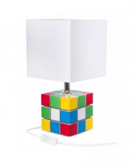 Stołowa lampa dziecięca Kostka Rubika kolorowa