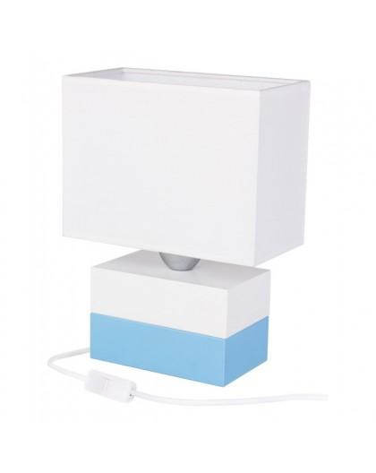Elegancka lampa biurkowa biało-niebieska Colorato