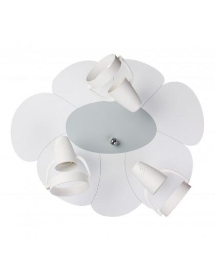 Biały plafon lampa sufitowa Płatek 3xE14
