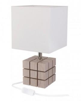 Nowoczesna lampa biurkowa bielona Kostka Rubika