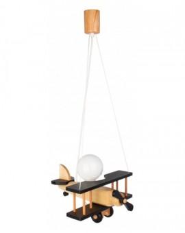 Drewniana lampa wisząca dla dzieci Samolot