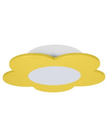 Żółta lampa sufitowa LED plafon dziecięcy Kwiatek