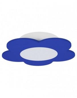 Niebieska lampa sufitowa LED dla dzieci Kwiatek