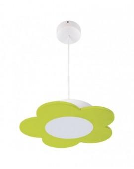 Zielona Lampa wisząca LED Kwiatek dla dzieci