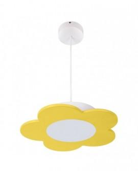 Żółta wisząca Lampa LED Kwiatek dla dzieci