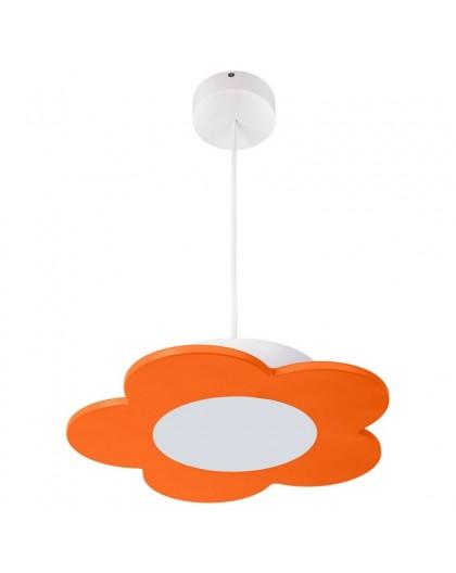 Pomarańczowa lampa wisząca LED Kwiatek