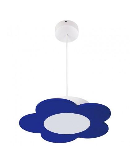 Niebieska dziecięca lampa wisząca LED Kwiatek