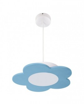 Błękitna lampa wisząca LED dla dzieci Kwiatek