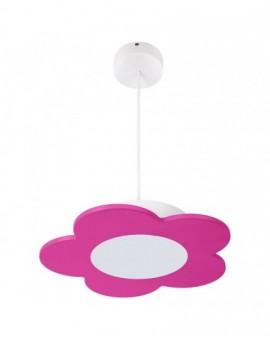Różowa lampa wisząca LED Kwiatek zwis