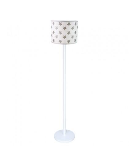 Biała stojąca lampa podłogowa Gwiazdki abażur