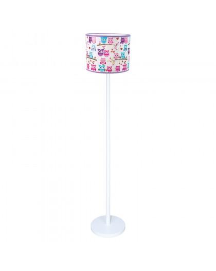 Kolorowa stojąca lampa podłogowa Sowy dla dzieci