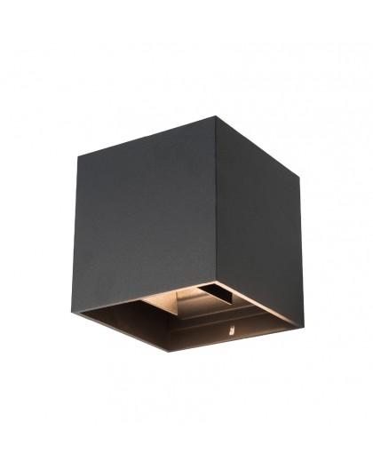 Czarny Kinkiet zewnętrzny LED Lampa ogrodowa dwustronna 2x4W Riko