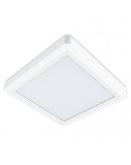 Nowoczesny Kwadratowy Plafon LED sufitowy 18W 4000K Biały Sigaro