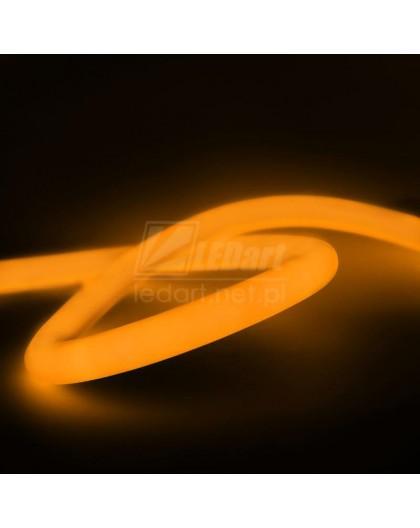 Pomarańczowy Neon LED Flex 230V Taśma Okrągła 360° IP67