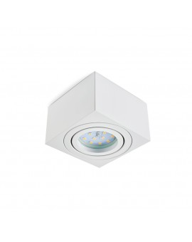 Surface mounted square white 50 mm OH37S luminaire for LED Insert