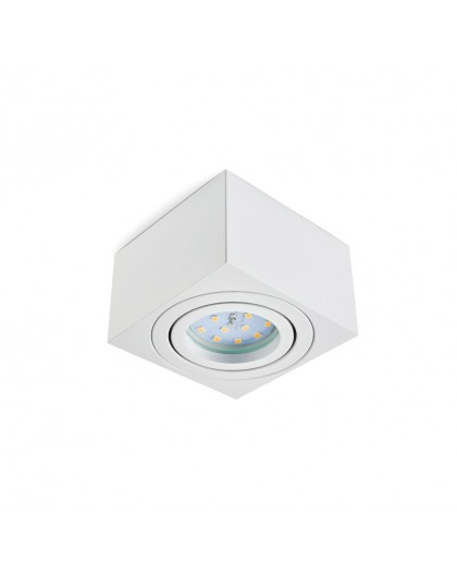 Oprawa natynkowa Kwadratowa Biała 5 cm OH37S do LED Insert