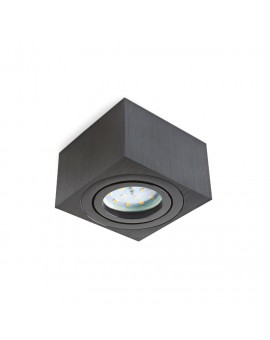 Black Surface mounted square 50 mm OH37S luminaire for LED Insert