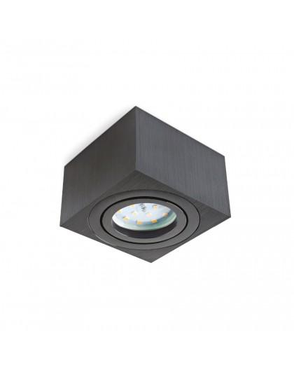 Czarna Oprawa natynkowa Kwadratowa 50 mm OH37S do LED Insert