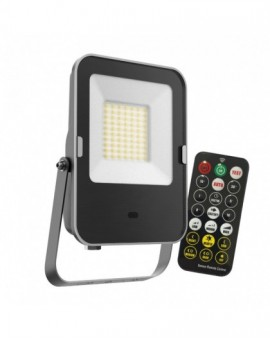 30W 6500K Naświetlacz LED MHNC z czujnikiem Premium Pilot Biała Neutralna 3 lata