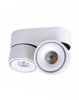 Reflektor Oprawa natynkowa LED regulowana podwójna 2x8W 3000K Biała Lahti Mini