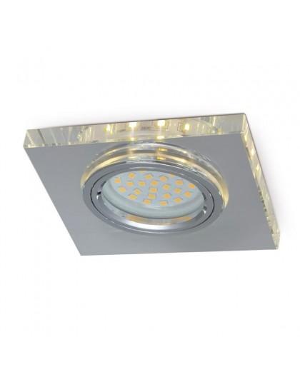 Szklana Oprawa halogenowa Kwadratowa z paskiem LED Poświata Efekt Halo