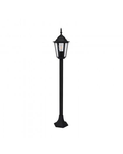 Klasyczna Stojąca Lampa ogrodowa LO4103 Czarna