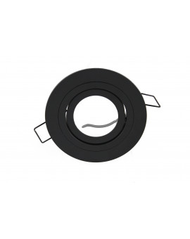 Ceiling downlight aluminium round black mat
