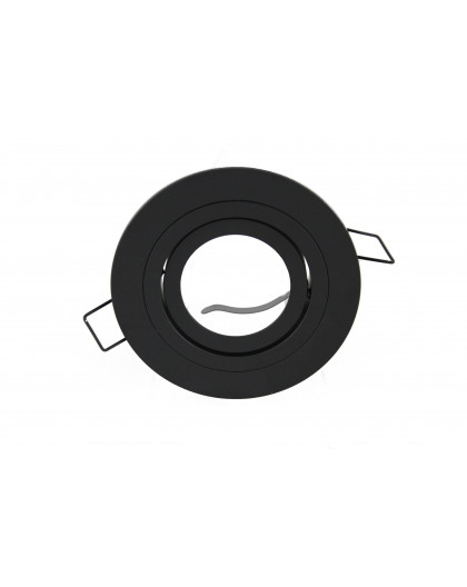 Adjustable round spot LED black mat