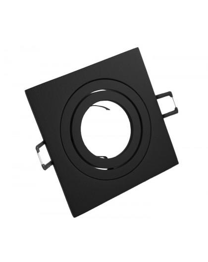 Oprawa sufitowa aluminium kwadrat ruchoma czarny matowy