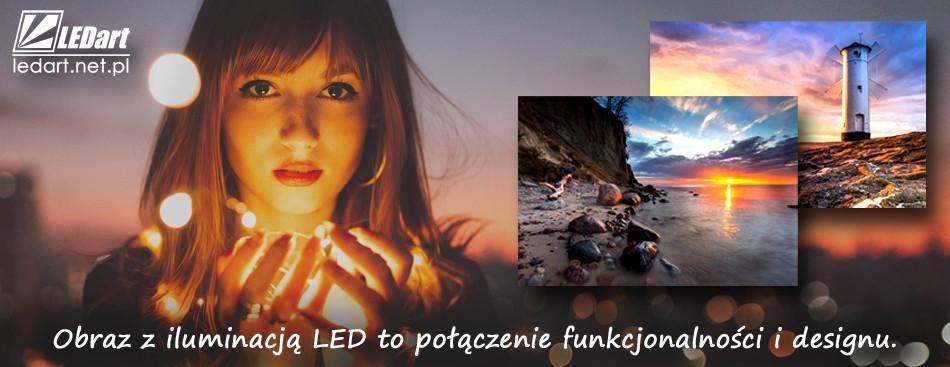 Obraz podświetlany LED - za dnia dekoracyjny obraz, wieczorem designerska lampa doświetlająca wnętrze - Producent LEDart Kraków